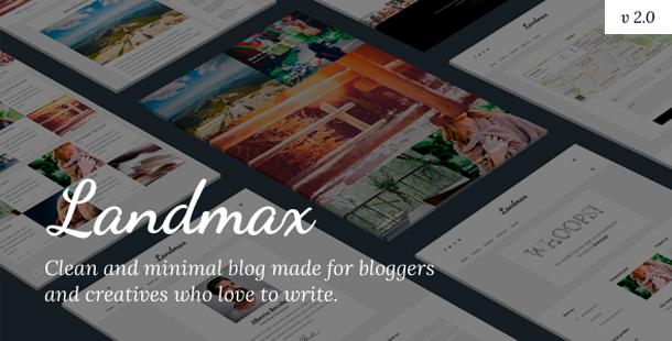 Landmax WP - Minimal Blog Theme