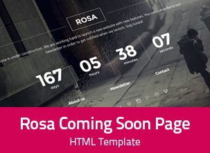 Rosa - Responsive Coming Soon Template