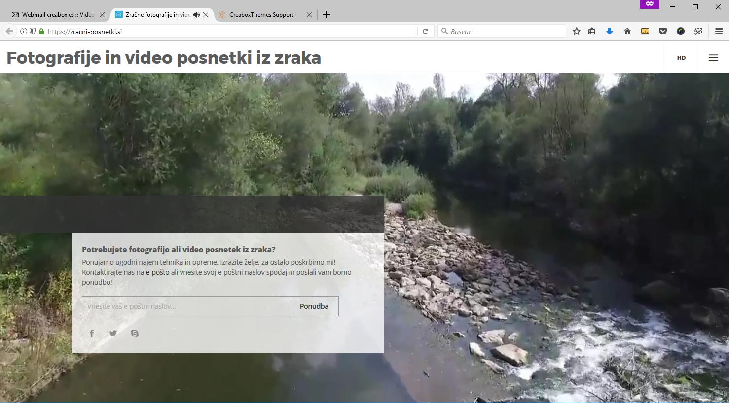 Zracni Firefox website