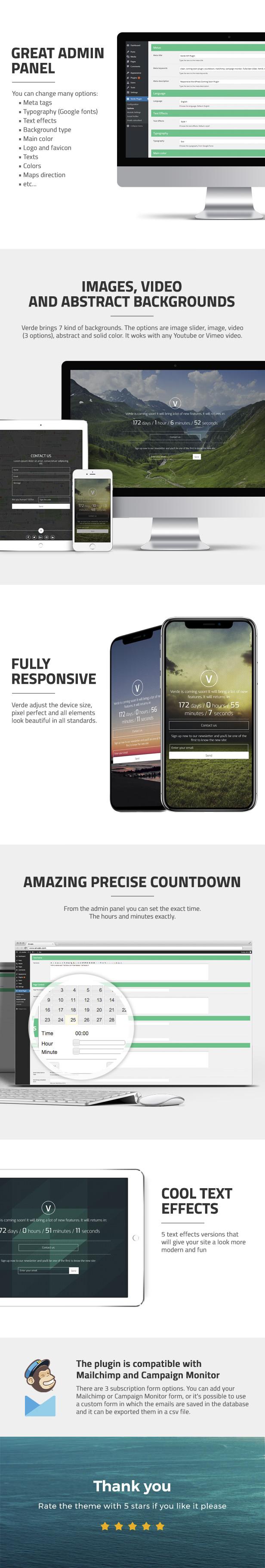 Verde - Responsive WordPress Coming Soon Plugin - 4
